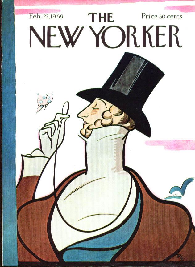 New Yorker cover Irvin Eustace Tilley 2/22 1969