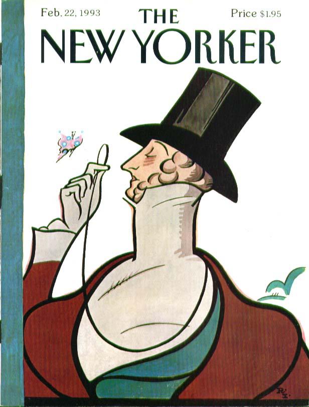 New Yorker cover Rea Irvin Eustace Tilley 2/22 1993