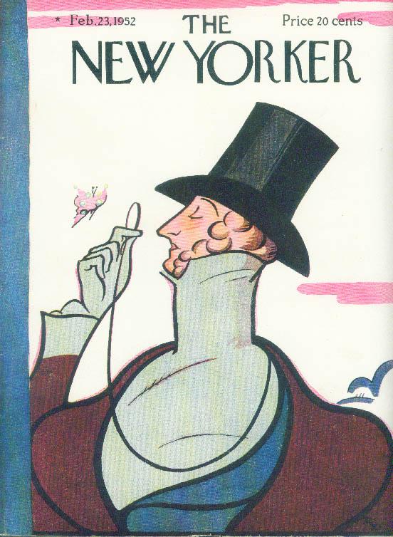 New Yorker cover Irvin Eustace Tilley 2/23 1952