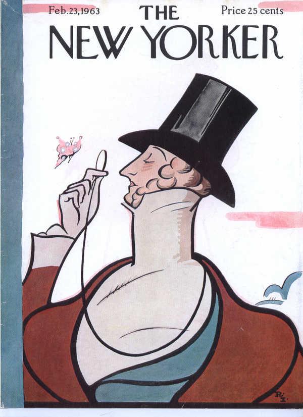 New Yorker cover Irvin Eustace Tilley 2/23 1963