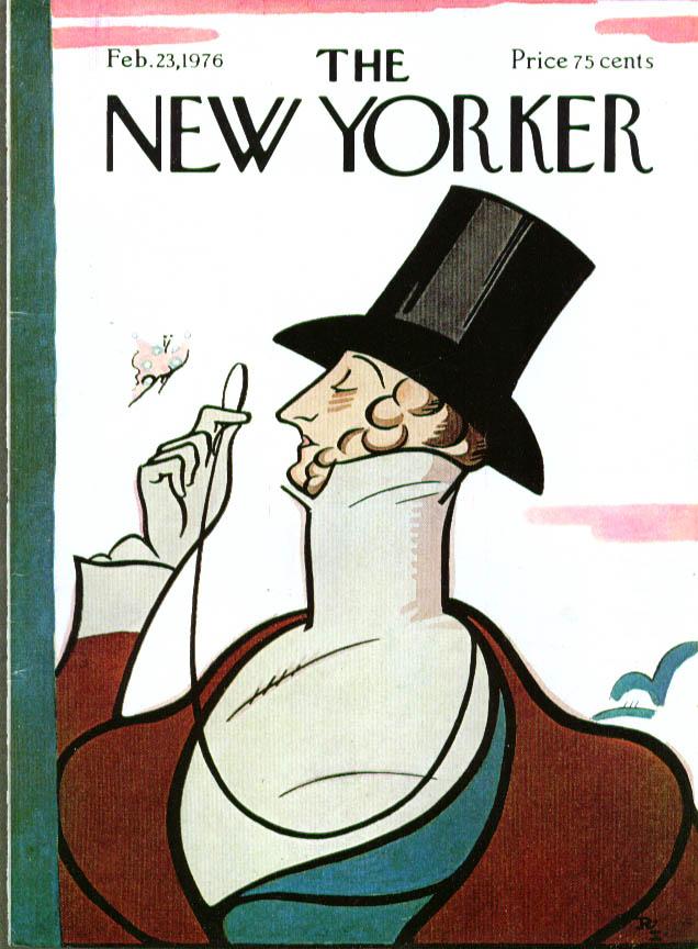 New Yorker cover Irvin Eustace Tilley 2/23 1976