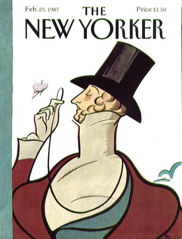New Yorker cover Rea Irvin Eustace Tilley 2/23 1987
