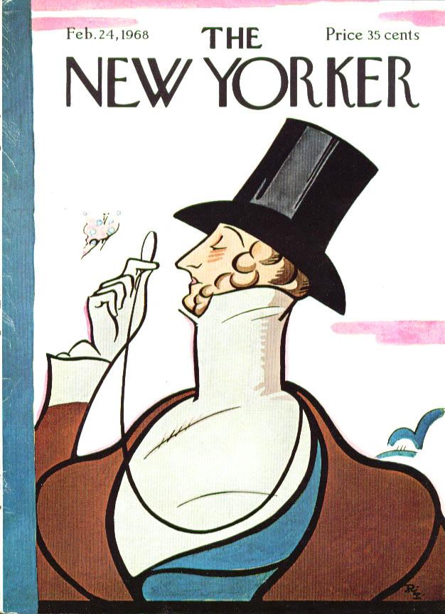 New Yorker cover Irvin Eustace Tilley 2/24 1968