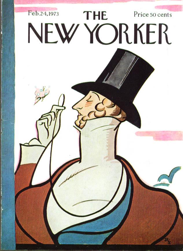 New Yorker cover Irvin Eustace Tilley 2/24 1973