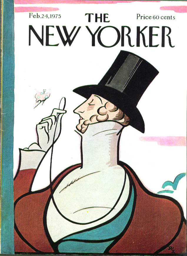 New Yorker cover Irvin Eustace Tilley 2/24 1975