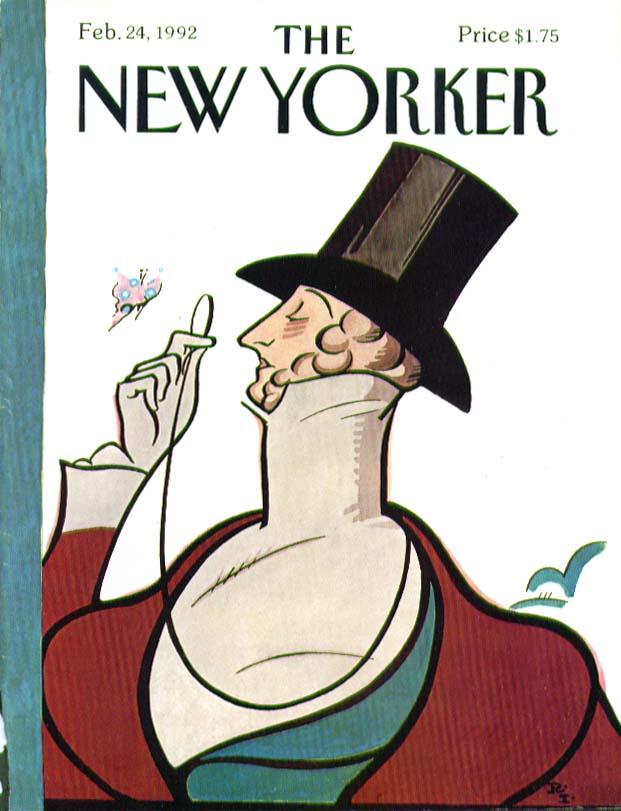 New Yorker cover Rea Irvin Eustace Tilley 2/24 1992