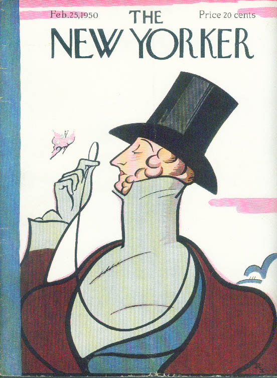 Image for New Yorker cover Irvin Eustace Tilley 2/25 1950