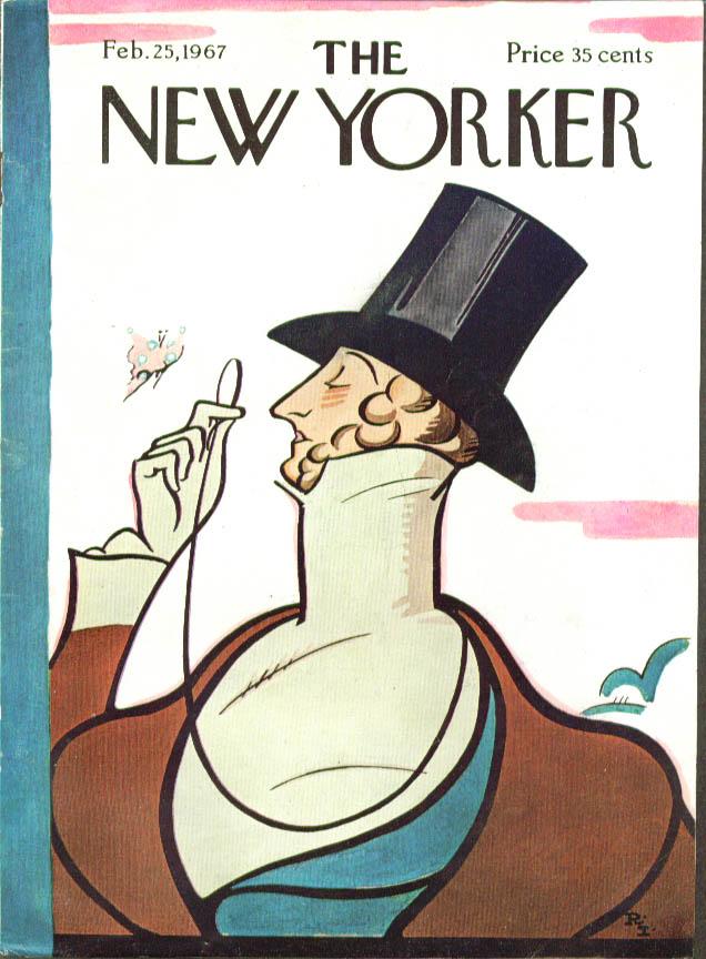 New Yorker cover Irvin Eustace Tilley 2/25 1967