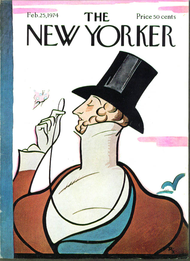 New Yorker cover Irvin Eustace Tilley 2/25 1974