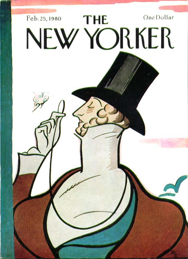 New Yorker cover Rea Irvin Eustace Tilley 2/25 1980