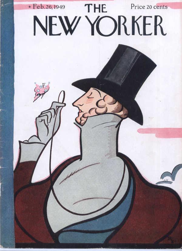New Yorker cover Irvin Eustace Tilley 2/26 1949