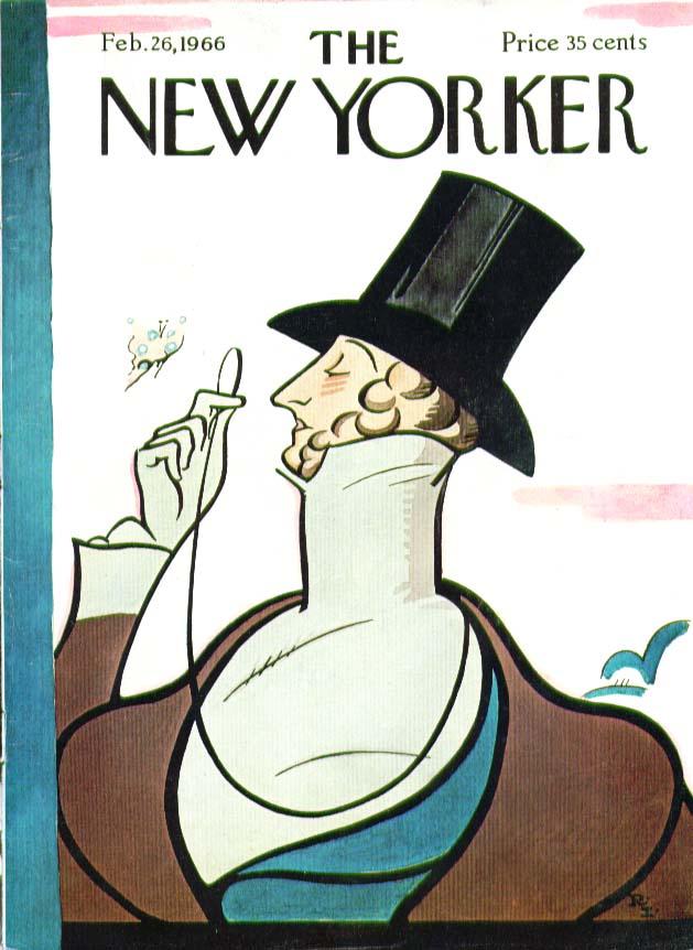 New Yorker cover Irvin Eustace Tilley 2/26 1966