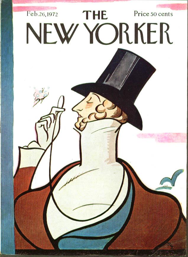 New Yorker cover Irvin Eustace Tilley 2/26 1972