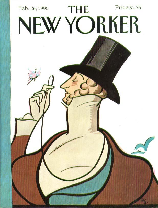 New Yorker cover Rea Irvin Eustace Tilley 2/26 1990