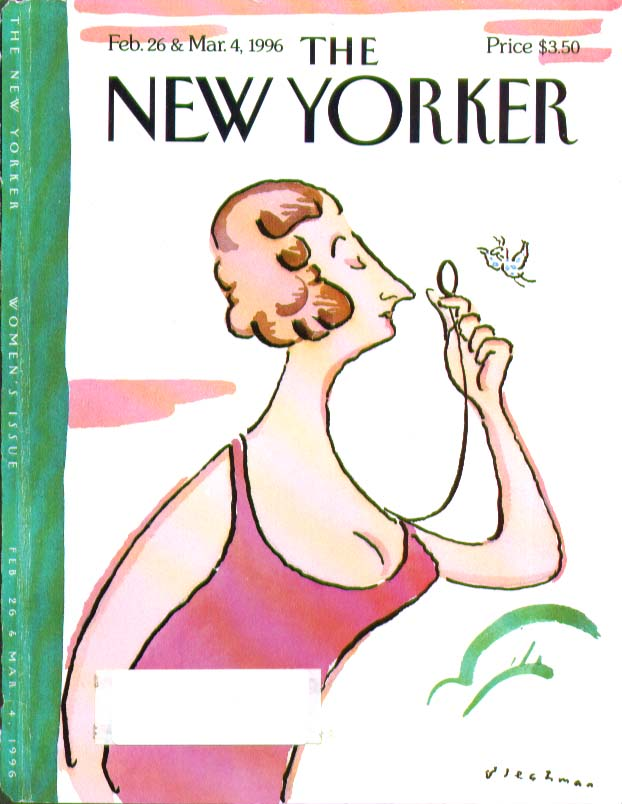 New Yorker cover Blechman Mrs Eustace Tilley parody 2/26 3/4 1996