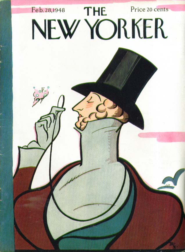 New Yorker cover Rea Irvin Eustace Tilley 2/28 1948