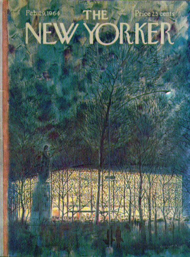 New Yorker cover Price Lincoln Center 2/29 1964