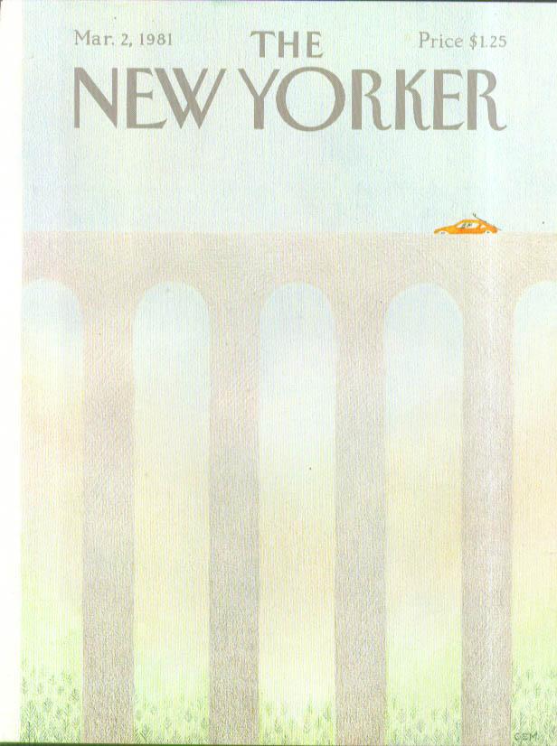 Image for New Yorker cover Martin red car ski rack 3/2 1981
