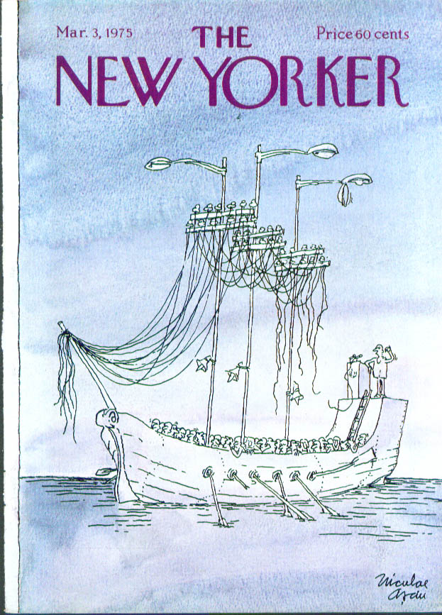 New Yorker cover Asciu politician's galley 3/3 1975