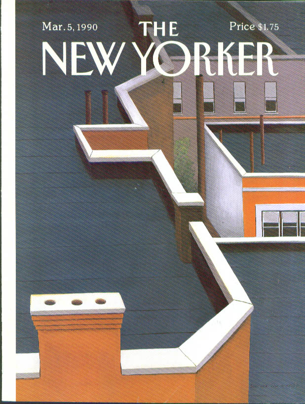 New Yorker cover Simpson rooftop angles 3/5 1990