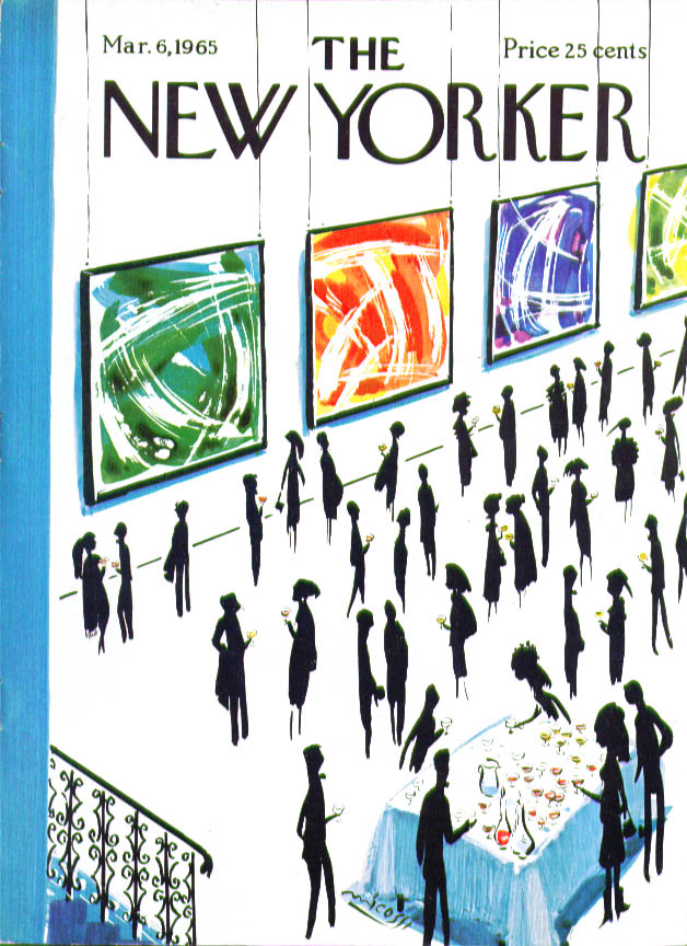 New Yorker cover Micossi abstract art show 3/6 1965