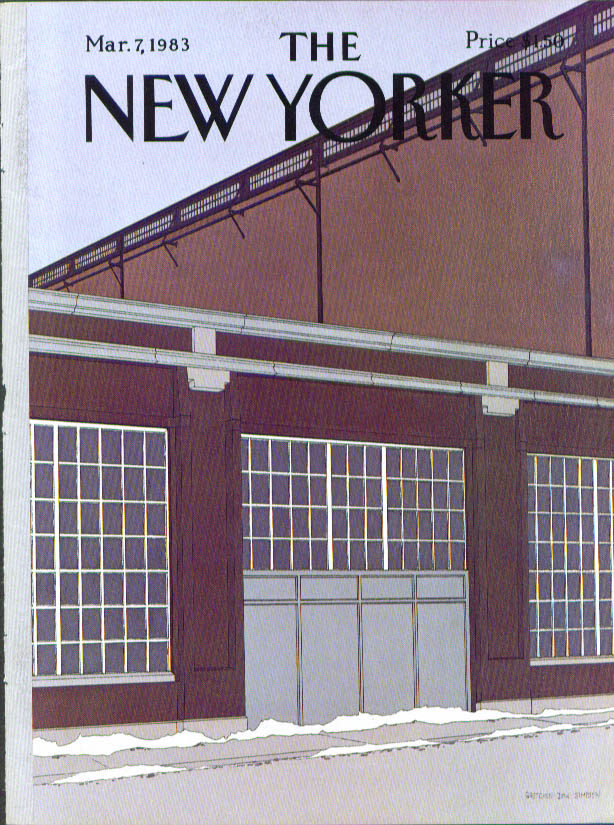 New Yorker cover Simpson warehouse 3/7 1983