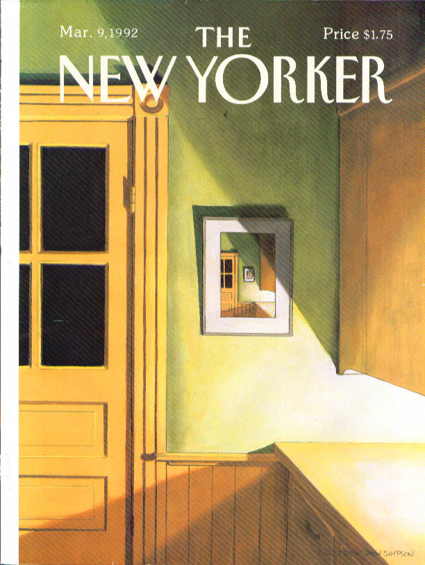 New Yorker cover Simpson pantry corner 3/9 1992