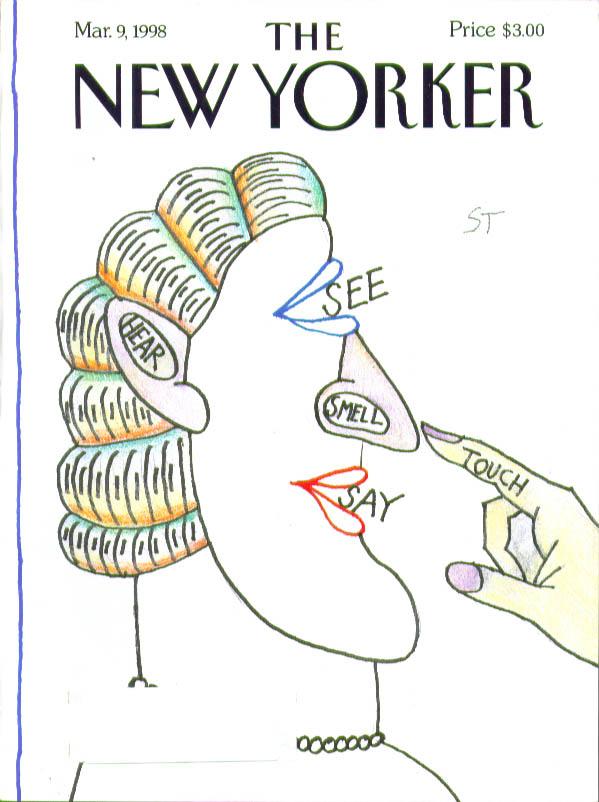 New Yorker cover Steinberg 5 senses 3/9 1998