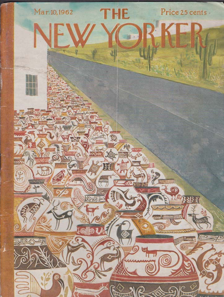 New Yorker cover Kovarsky Indian pottery 3/10 1962