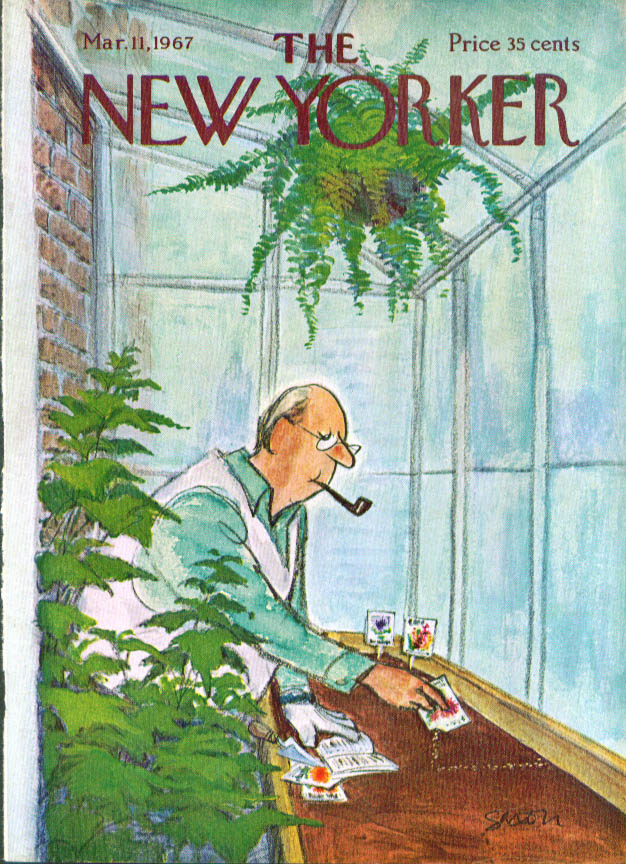 New Yorker cover Saxon planting seeds 3/11 1967