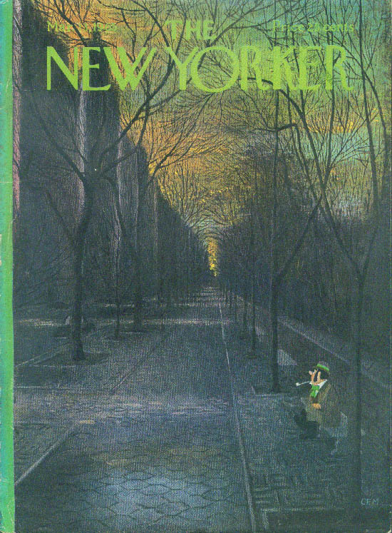 New Yorker cover Martin leprechaun wait dawn 3/13 1965