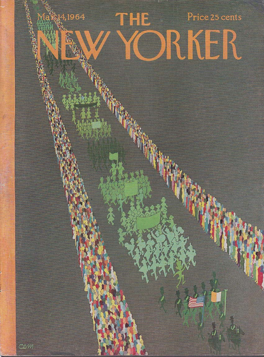 New Yorker cover Martin St Patrick's Parade 3/14 1964