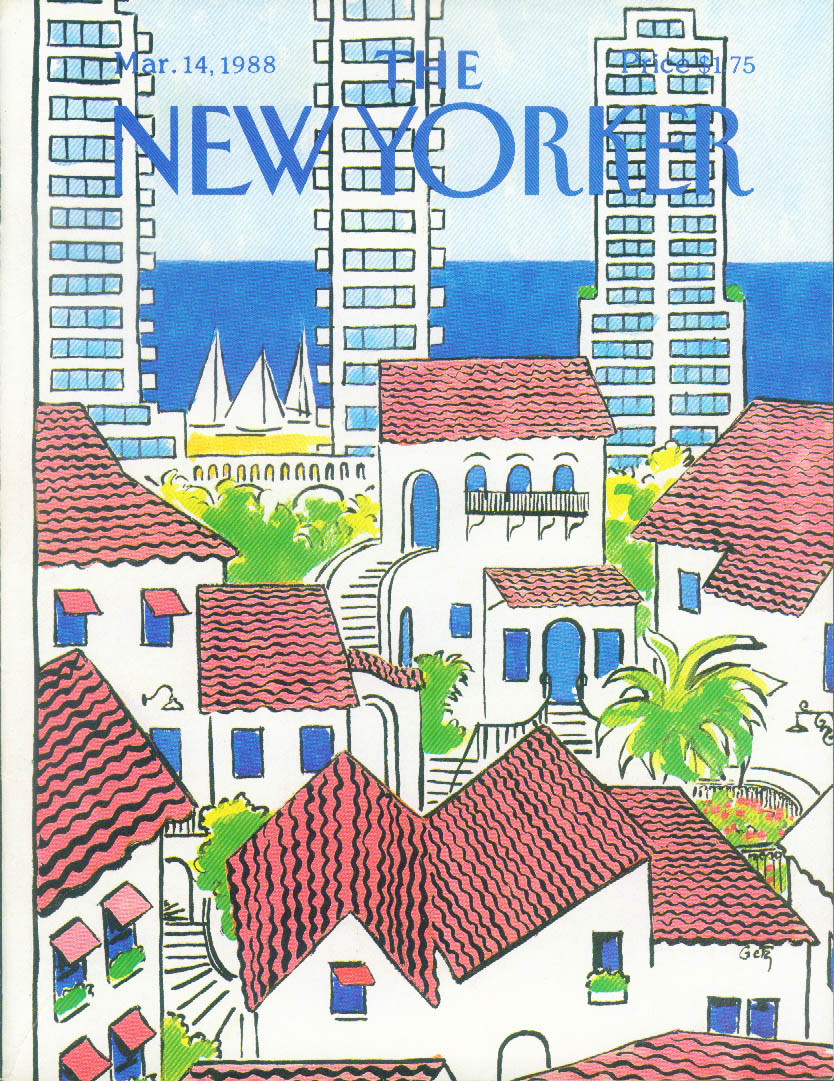 Image for New Yorker cover Getz tropical villas 3/14 1988