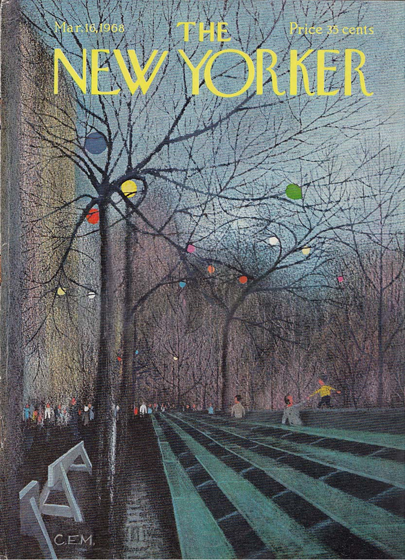 New Yorker cover Martin St Patrick's Parade 3/16 1968
