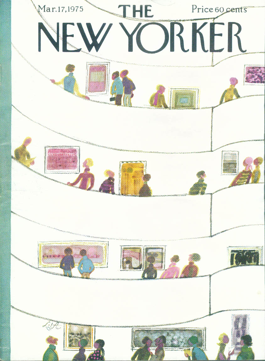 New Yorker cover Allen Guggenheim ramp 3/17 1975