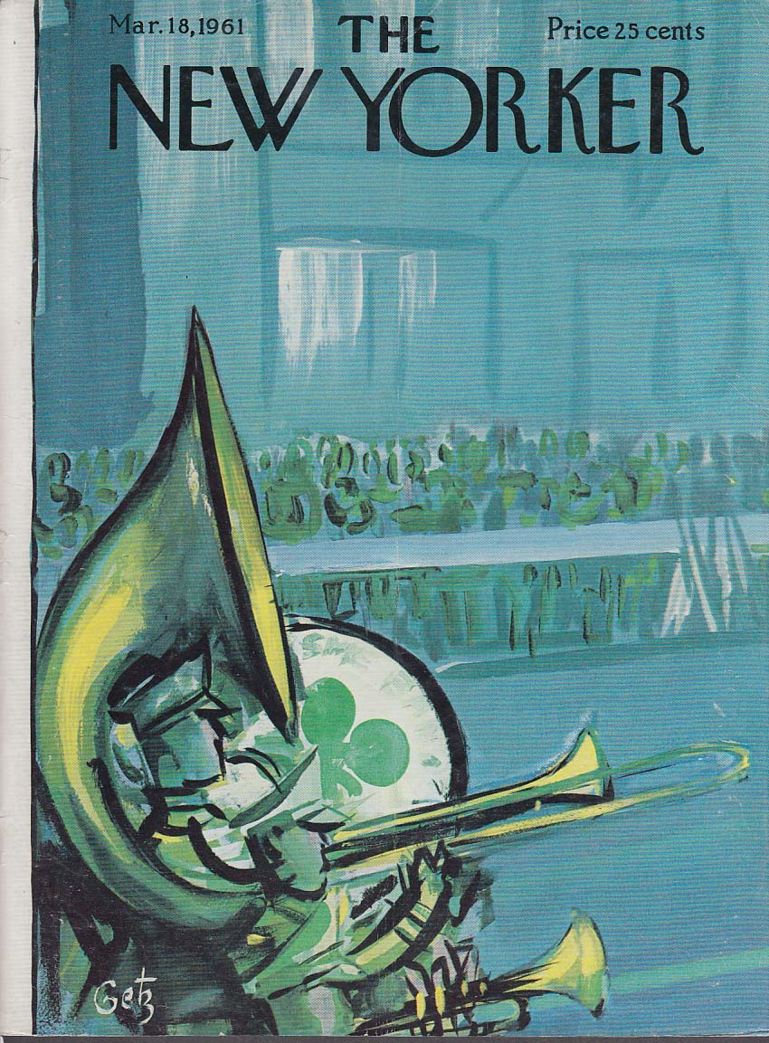 New Yorker cover Getz St Patrick's Day March 3/18 1961