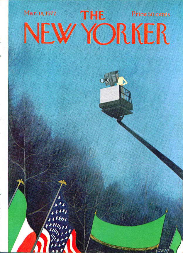 New Yorker cover Martin camera St Patrick's 3/18 1972