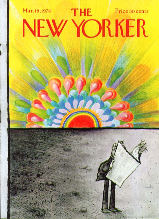 New Yorker cover Searle explosive sunrise 3/18 1974