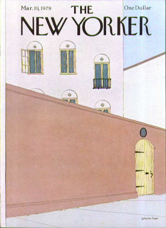 New Yorker cover Simpson villa wall 3/19 1979