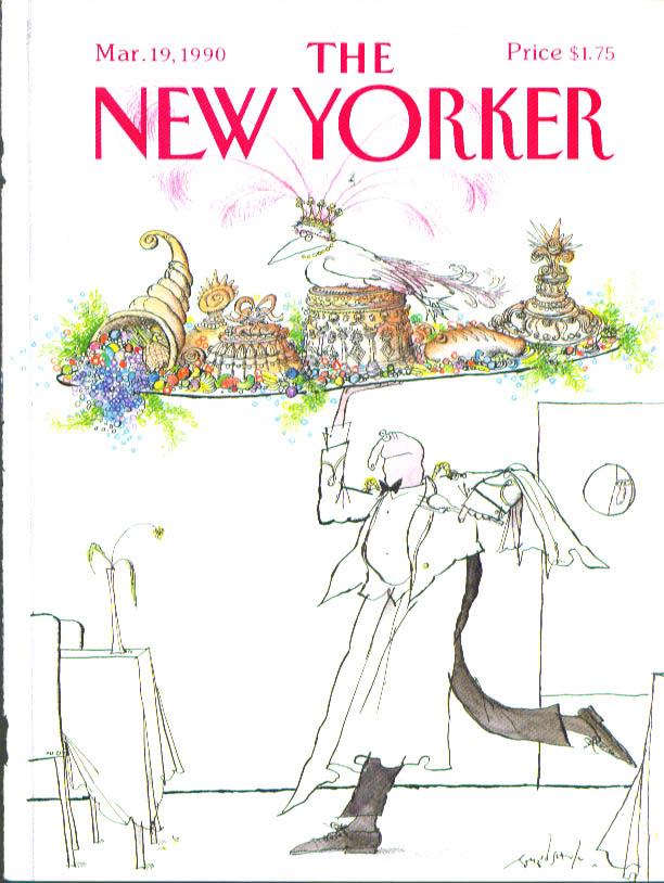 New Yorker cover Searle waiter fancy feast 3/19 1990