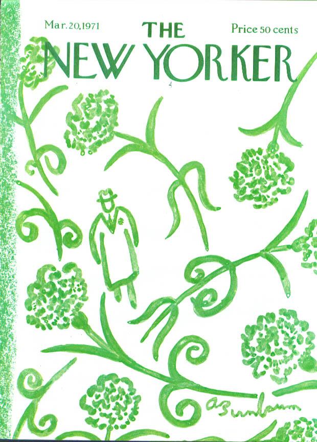 New Yorker cover Birnbaum St Patrick's Day 3/20 1971