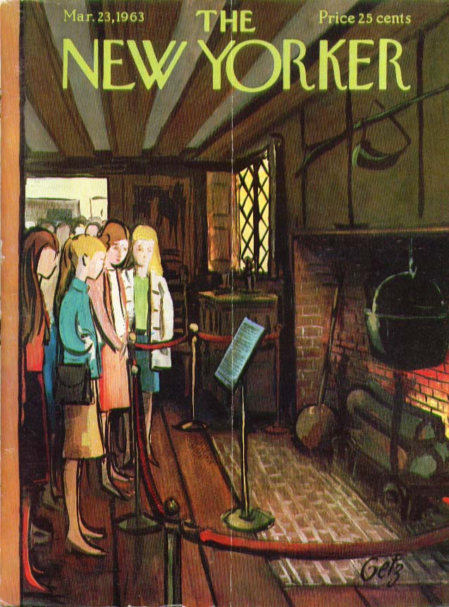 Image for New Yorker cover Getz schoolgirls at museum 3/23 1963