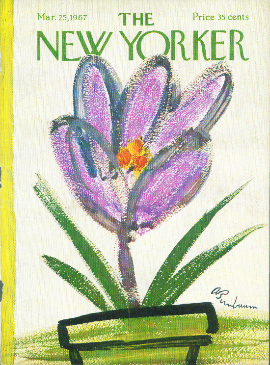 New Yorker cover Birnbaum Easter lily showoff 3/25 1967