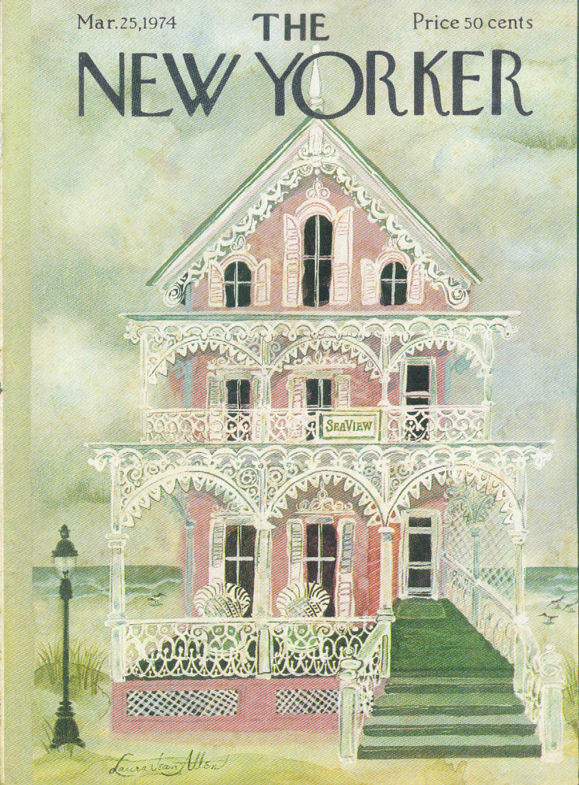 New Yorker cover Allen Sea View beach house 3/25 1974