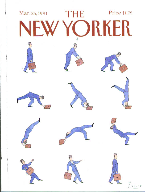 New Yorker cover Chast businessman somersault 3/25 1991