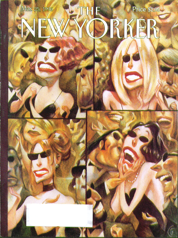 New Yorker cover CG plastic surgery face-tightened celebrities 3/25 1996