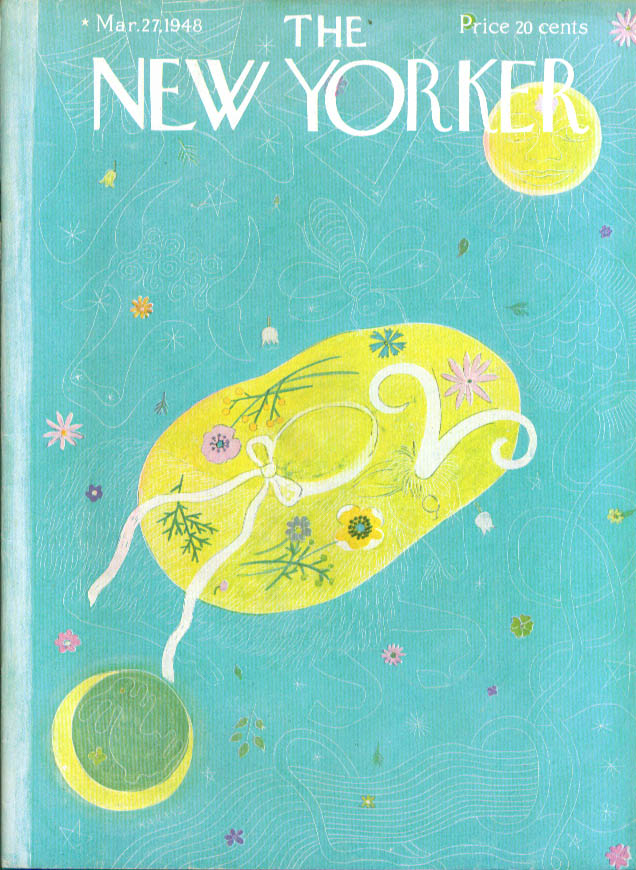 New Yorker cover Karasz Easter bonnet symbol 3/27 1948
