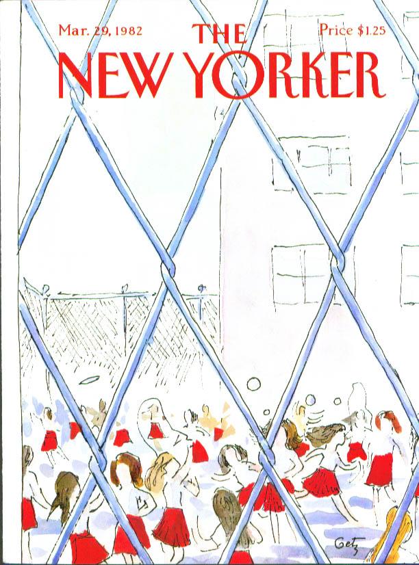 New Yorker cover Getz girls playground 3/29 1982