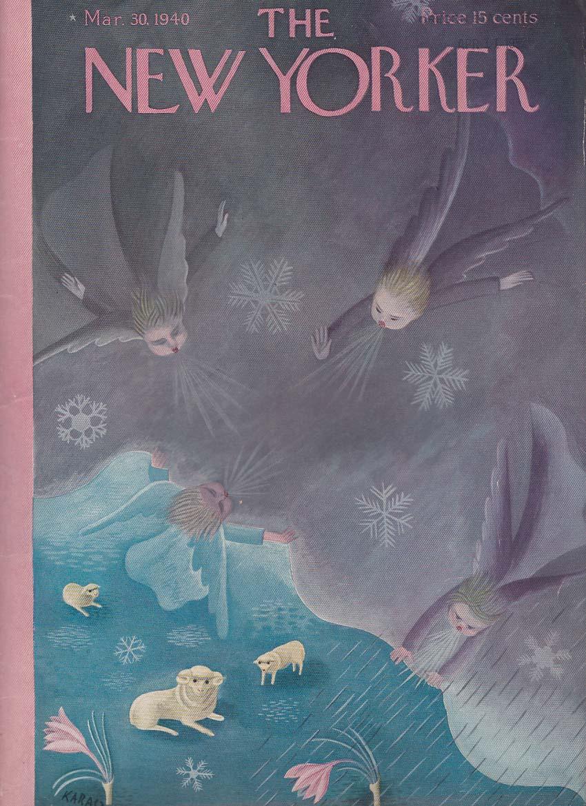 New Yorker cover Karasz Angels clear skies 3/30 1940