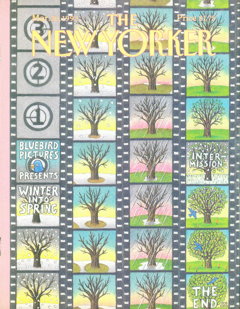 New Yorker cover Knox Winter-to-Spring Film 3/30 1992